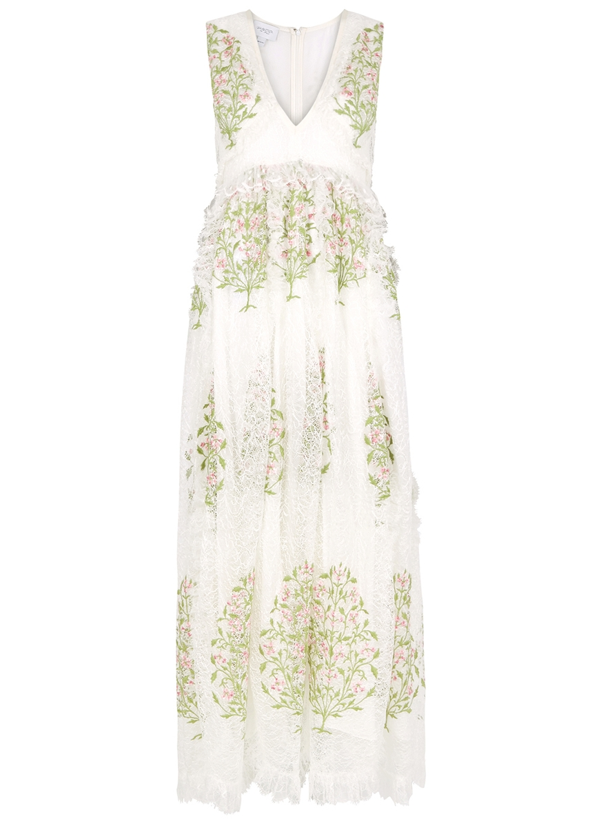 3b147ef777b1c Floral-embroidered lace maxi dress Floral-embroidered lace maxi dress. Giambattista  Valli