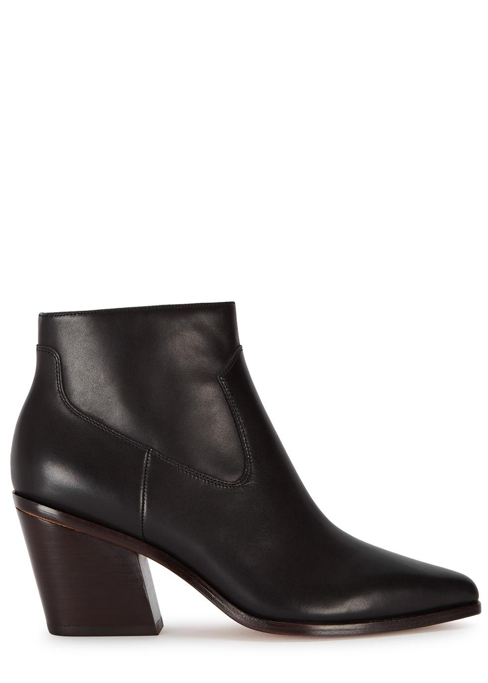 Razor 90 black leather ankle boots - rag & bone
