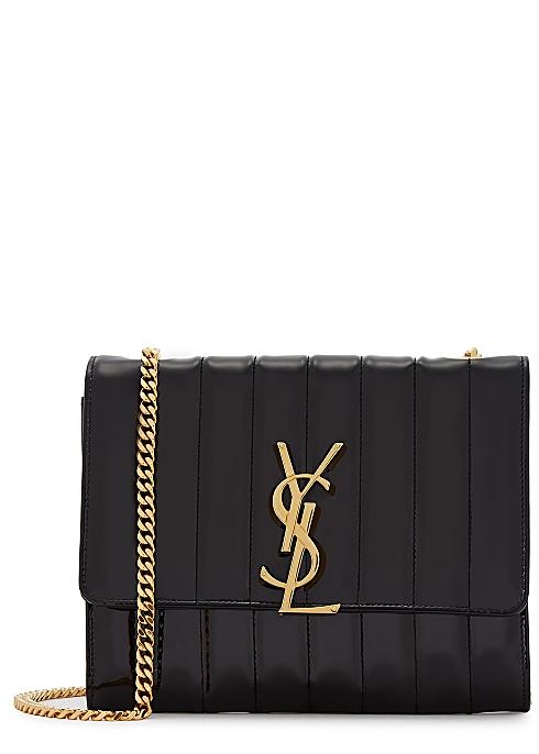 19b3391dd57 Saint Laurent Vicky black cross-body bag - Harvey Nichols