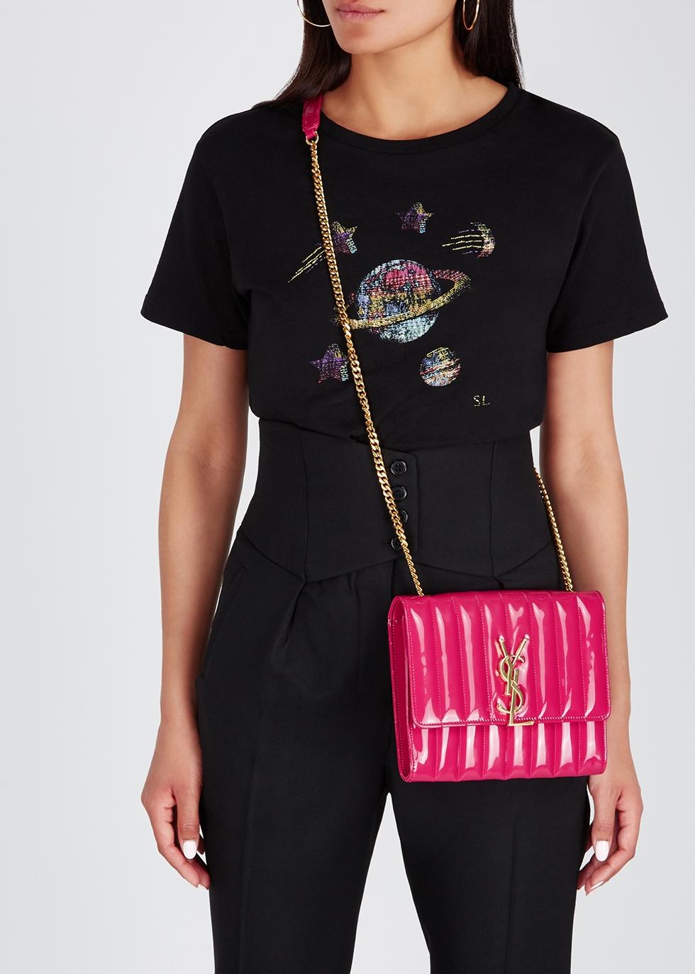 Vicky hot pink cross-body bag - Saint Laurent