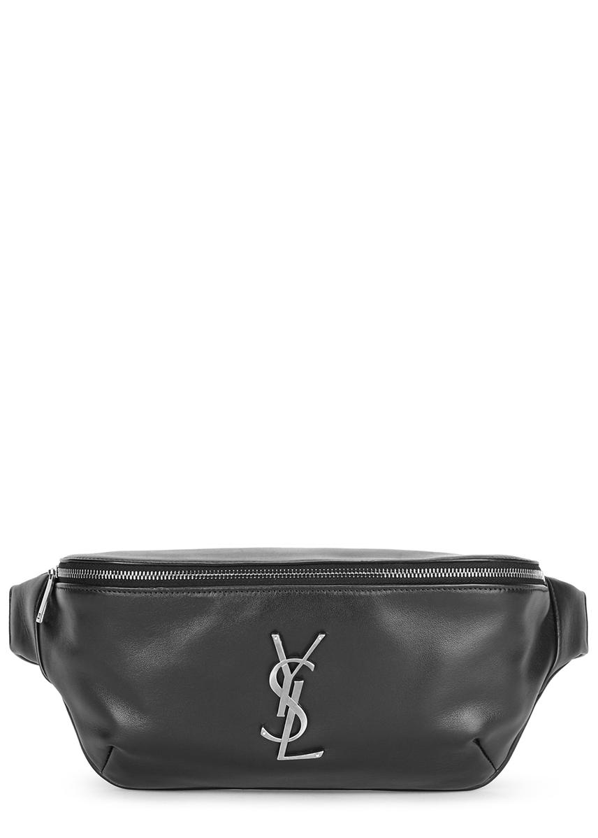 2b7c5ce05d0 Black logo leather belt bag Black logo leather belt bag. New Season. Saint  Laurent