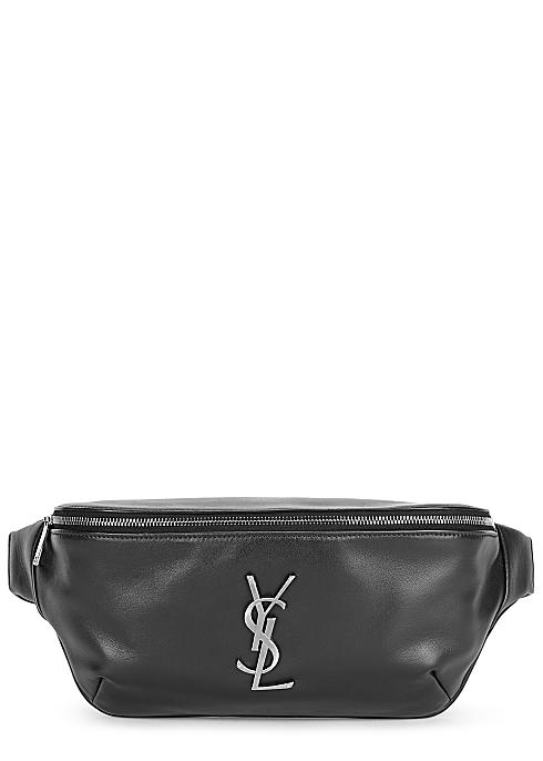 1752f5be7b5 Saint Laurent Black logo leather belt bag - Harvey Nichols
