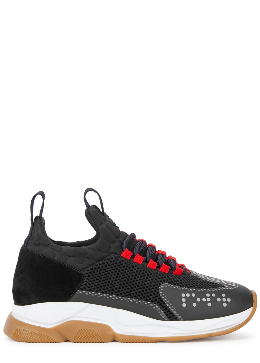 734bb762644 50 chain reaction black and navy mesh trainers ...
