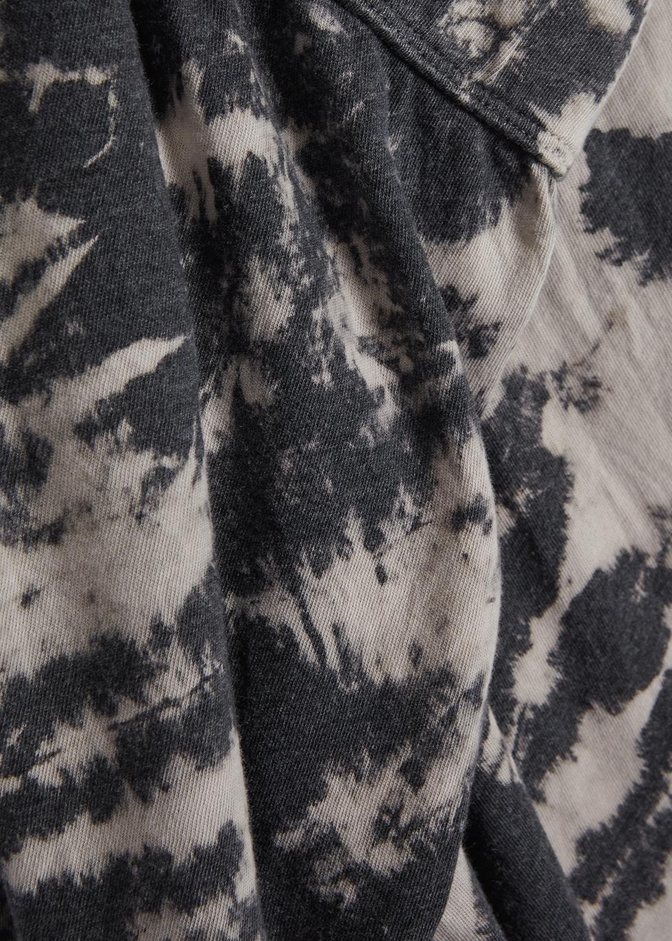 Charcoal tie-dye jersey sweatpants - RAQUEL ALLEGRA