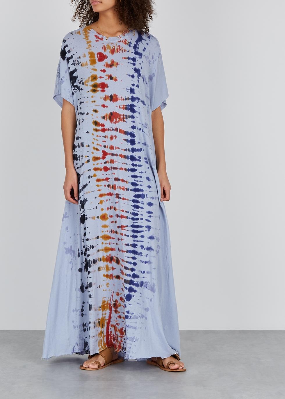 Tie-dye cotton maxi dress - RAQUEL ALLEGRA
