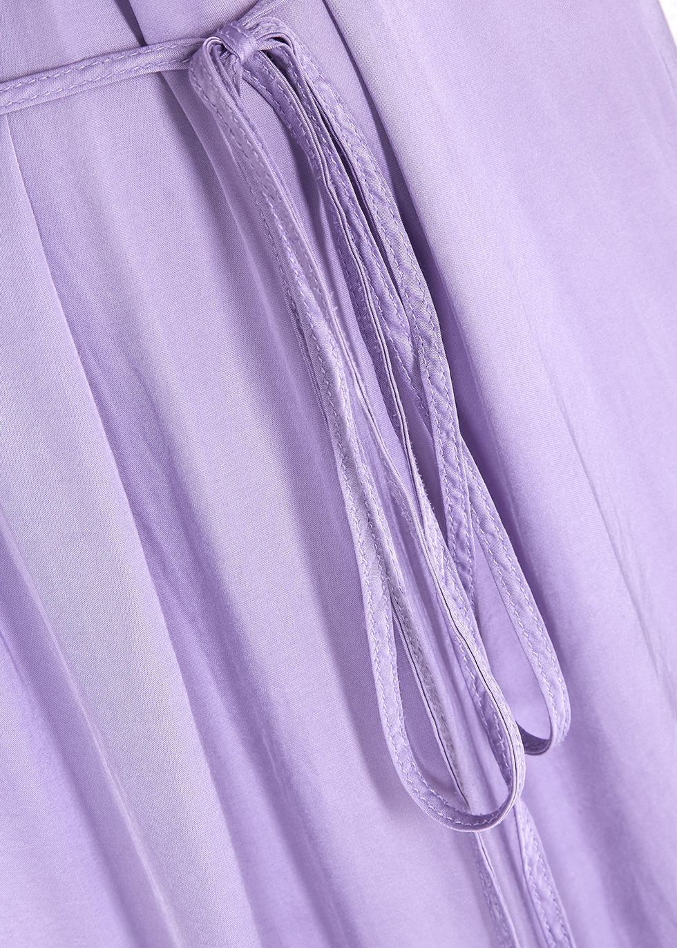 Lilac halterneck satin maxi dress - RAQUEL ALLEGRA
