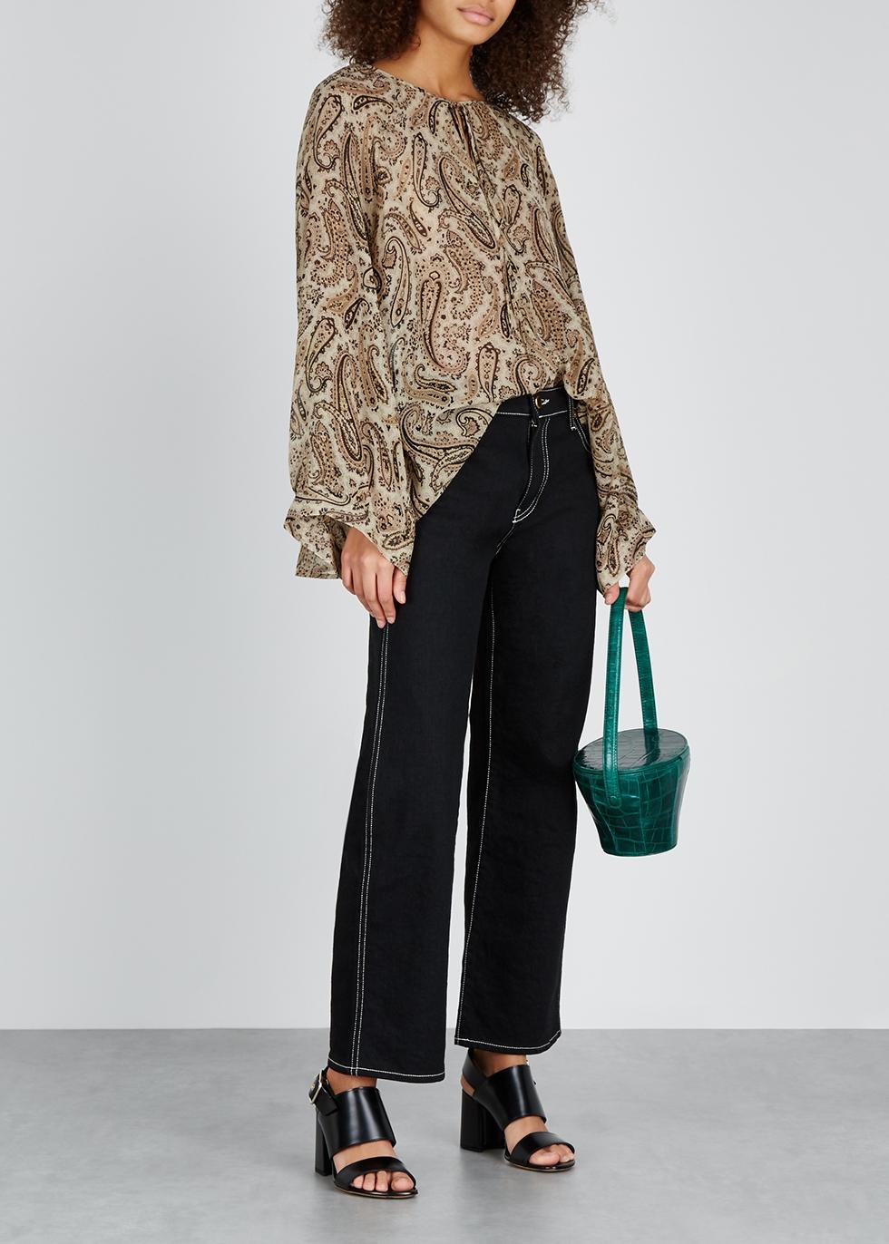 Acadia printed silk-chiffon blouse - Nili Lotan