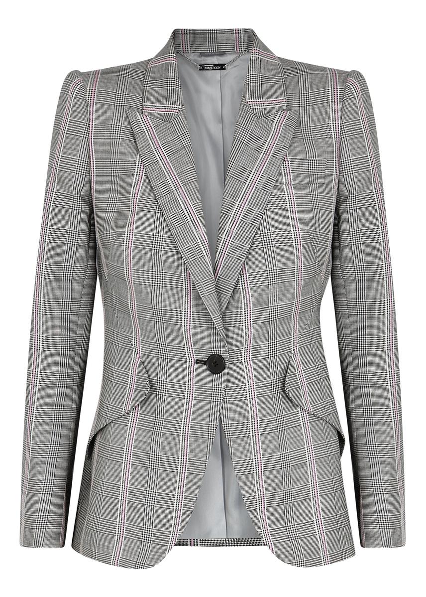 ae8ee982569 Grey checked wool blazer Grey checked wool blazer. New In. Alexander McQueen