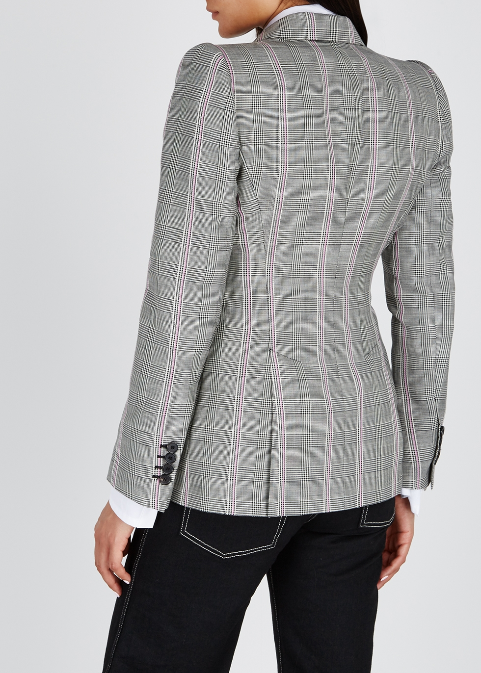 Grey checked wool blazer - Alexander McQueen