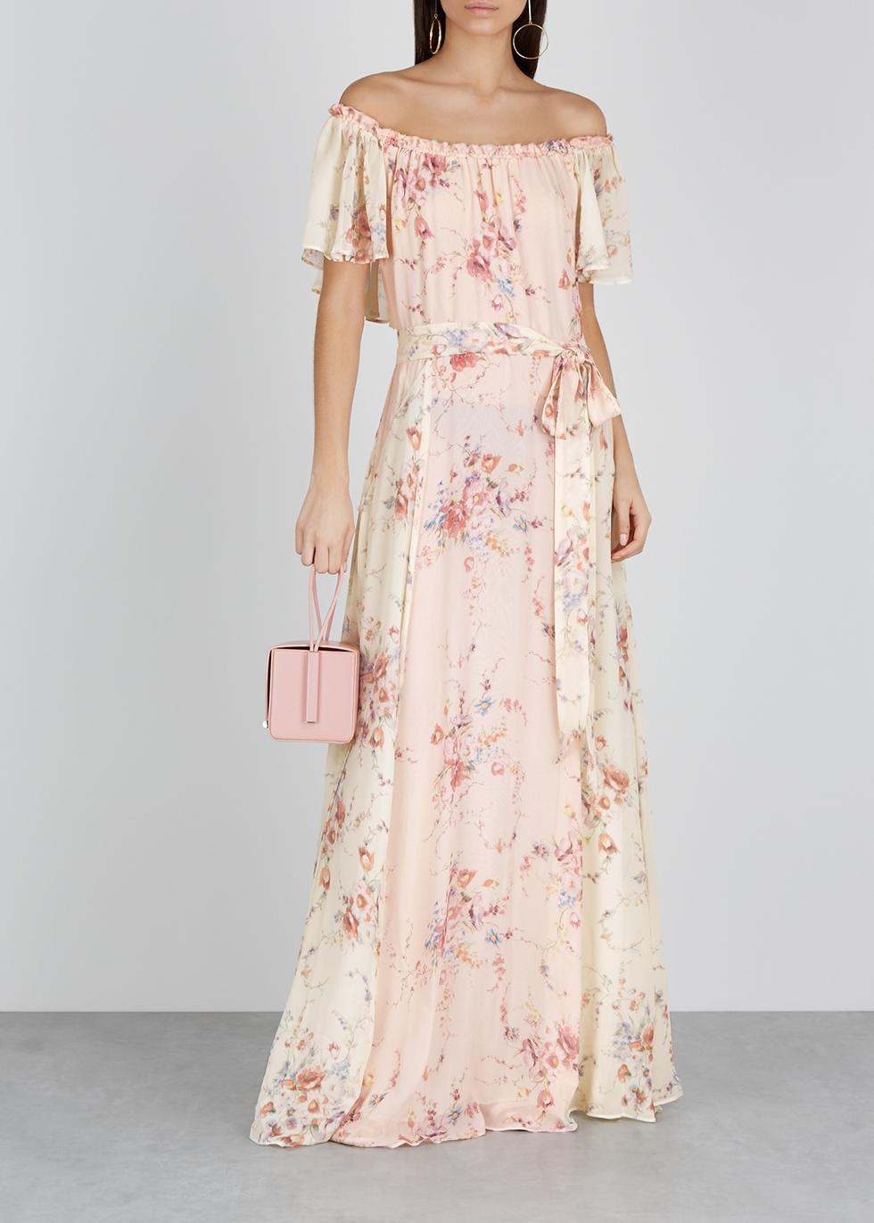 Evelyn floral-print silk maxi dress - LoveShackFancy