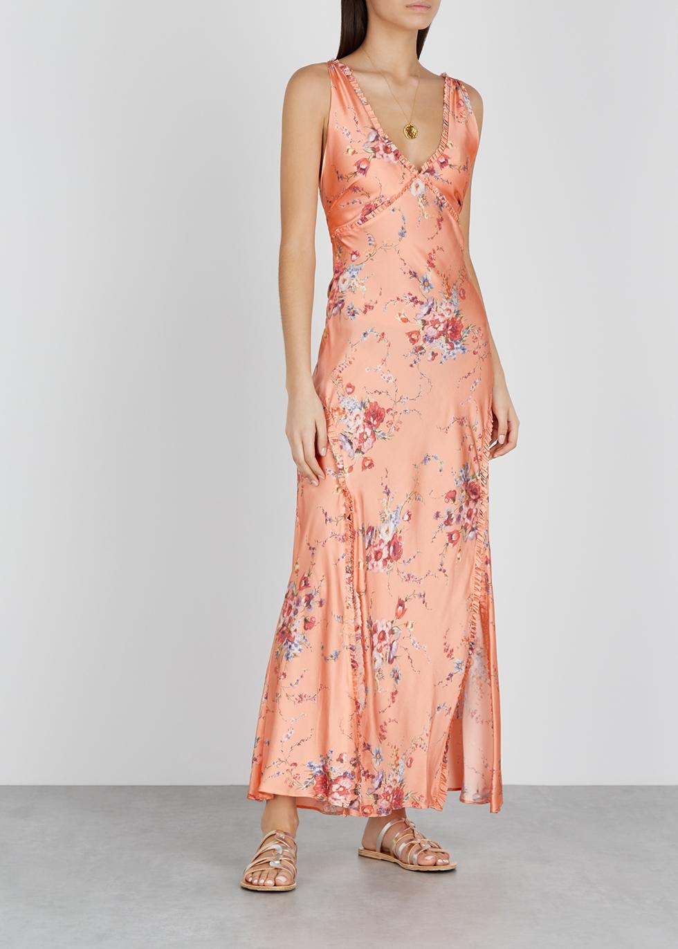 Kendall floral-print silk maxi dress - LoveShackFancy
