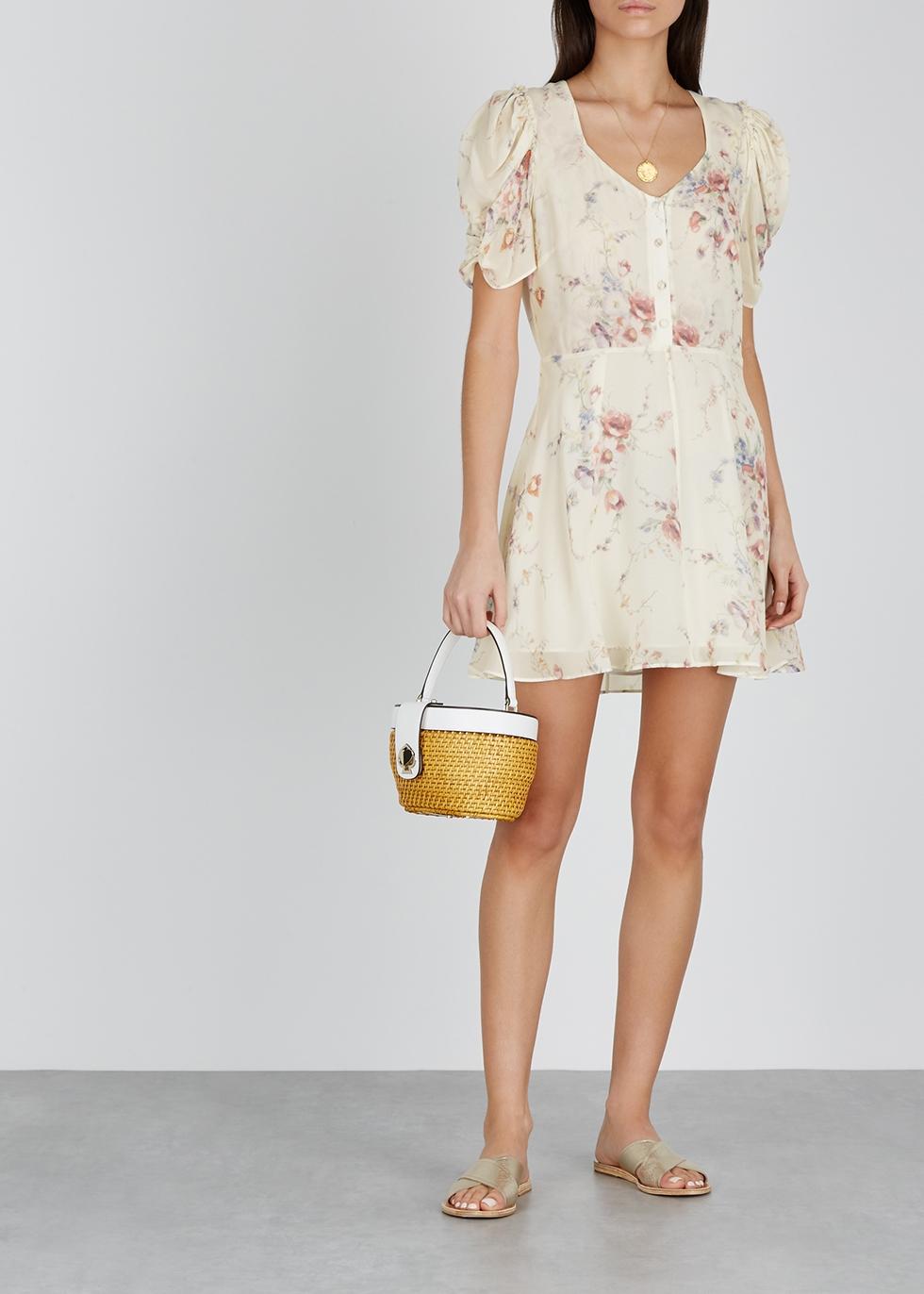 Cora floral-print silk mini dress - LoveShackFancy