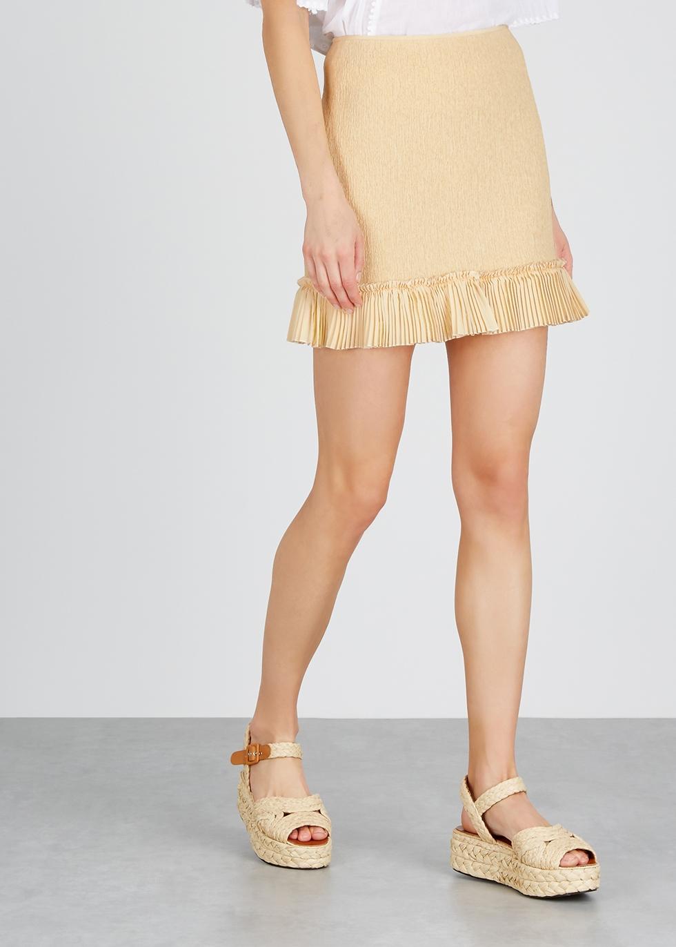 Sand plissé mini skirt - Chloé