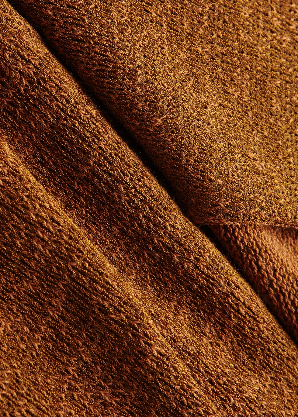 Rust stretch-knit dress - Chloé