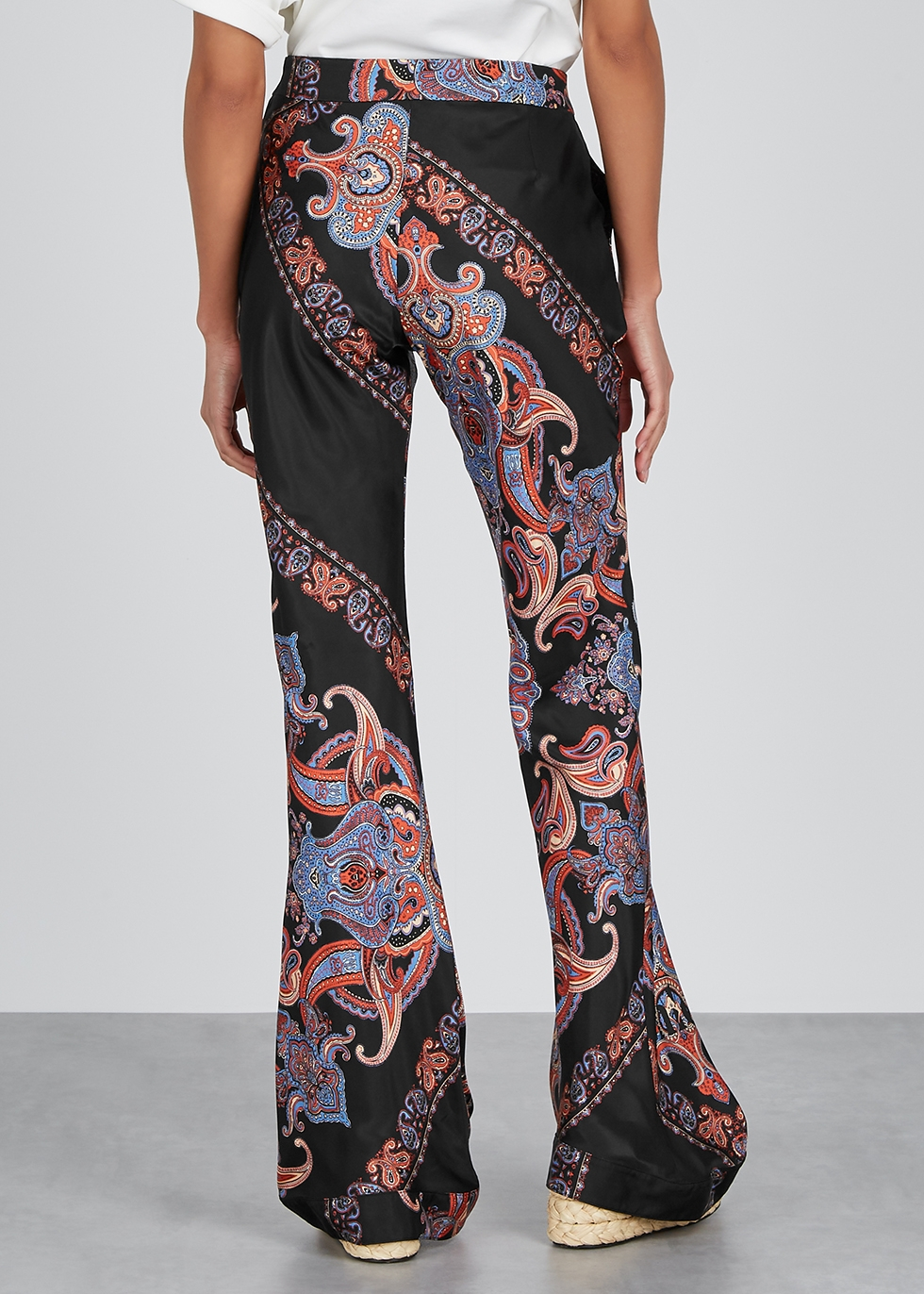 Printed satin-twill trousers - Chloé