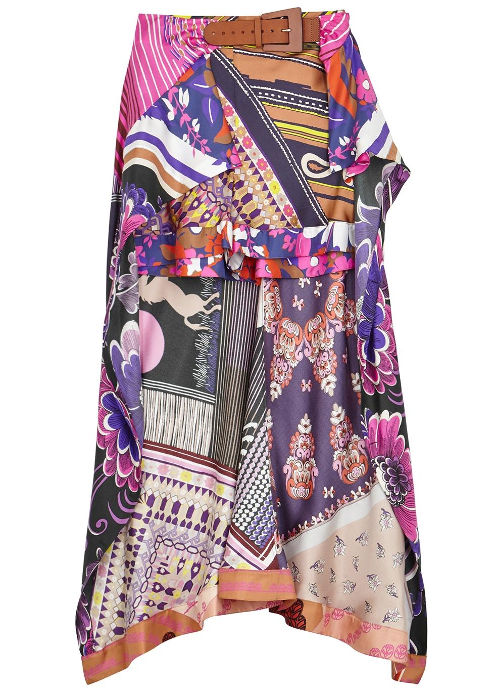 Printed silk-twill shorts - Chloé