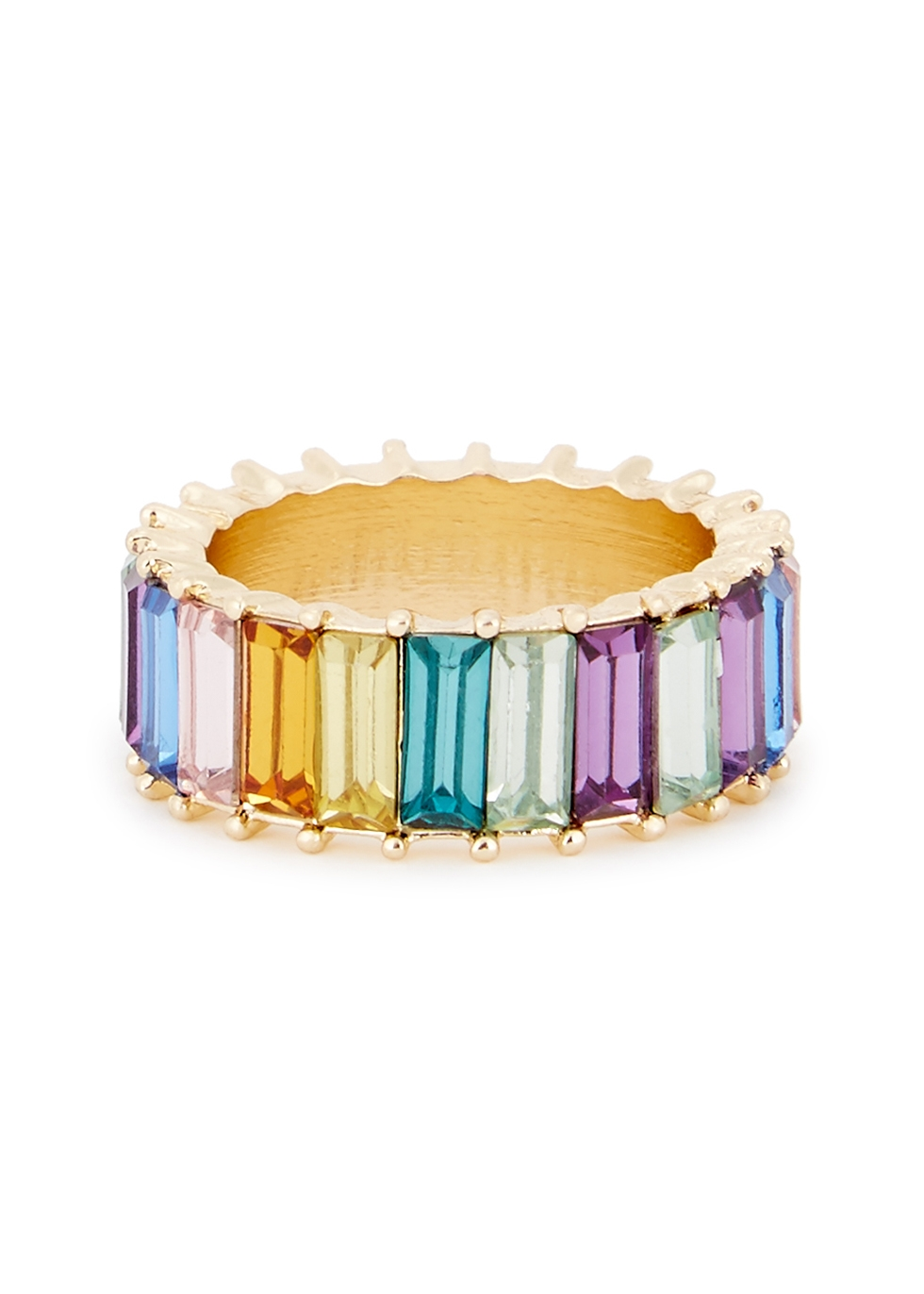 Alidia rainbow gold-plated ring - Baublebar