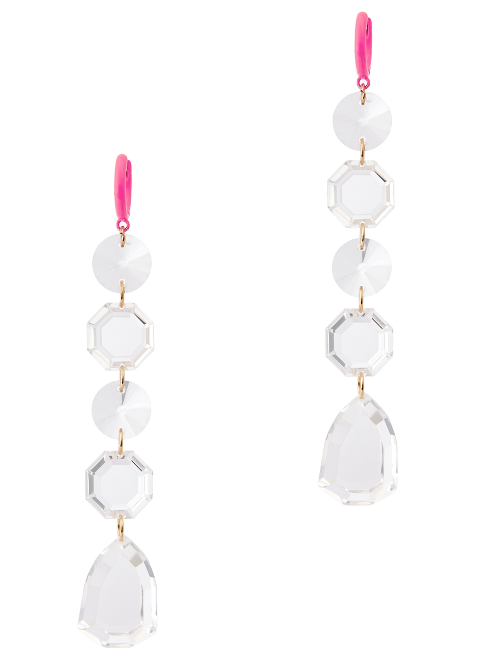 Sofianne acrylic crystal drop earrings - Baublebar