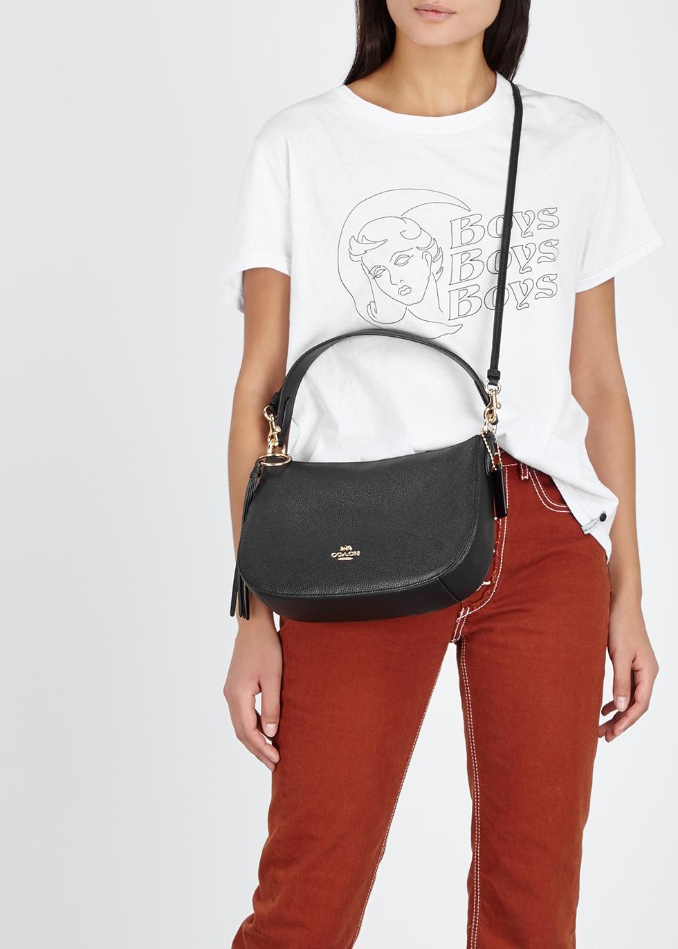 9b915246c83 Coach Sutton black leather top handle bag - Harvey Nichols