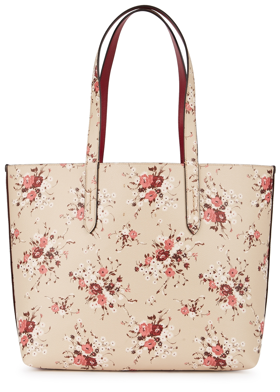 Floral-print leather tote - Coach