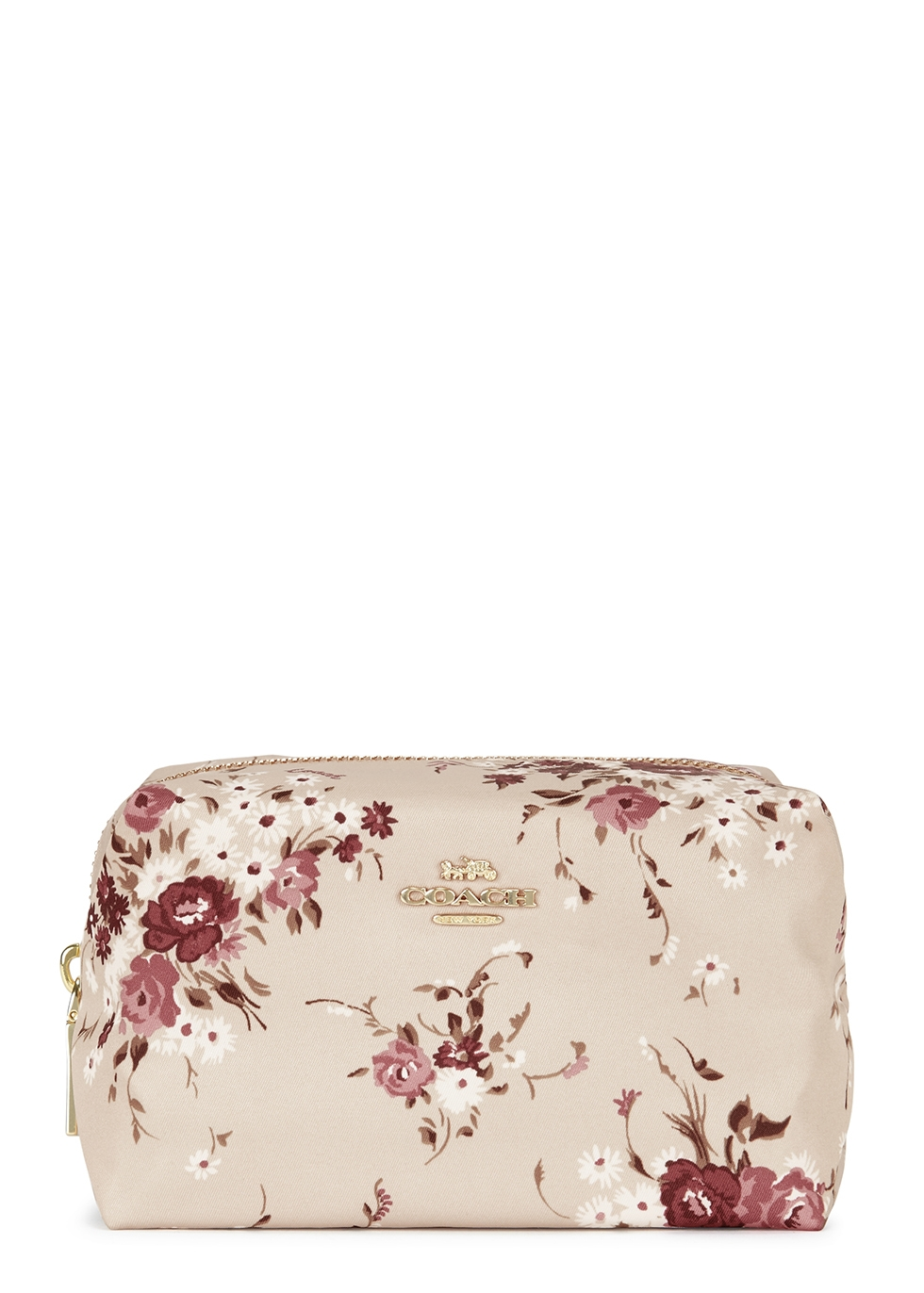 Stone floral-print cosmetic bag - Coach