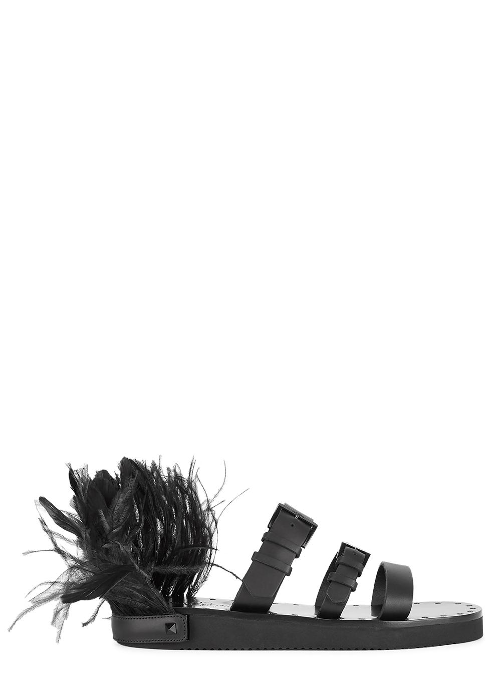 VALENTINO   Valentino Garavani Escape Rockstud Leather Sliders   Goxip