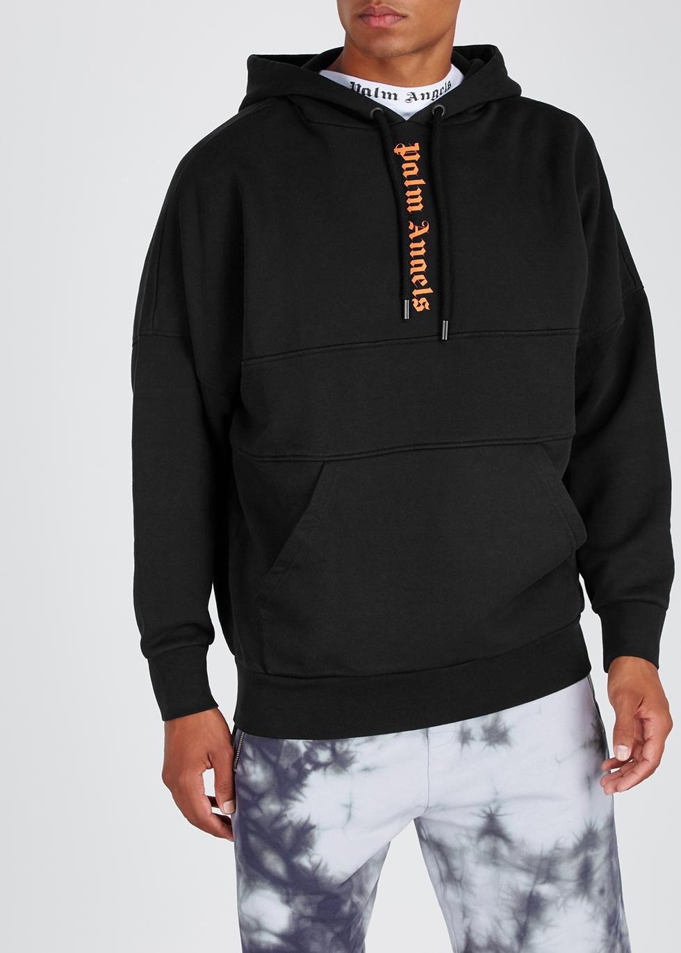 Black logo cotton sweatshirt - Palm Angels