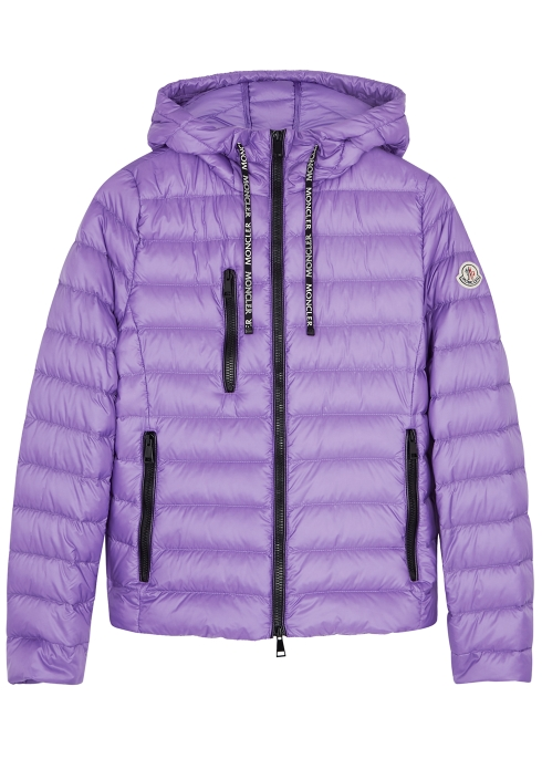 bf95f5bbf9ef Moncler Seoul lilac quilted shell jacket - Harvey Nichols
