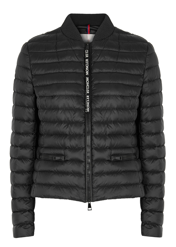 Blenca black quilted shell jacket ... 879e3b11e