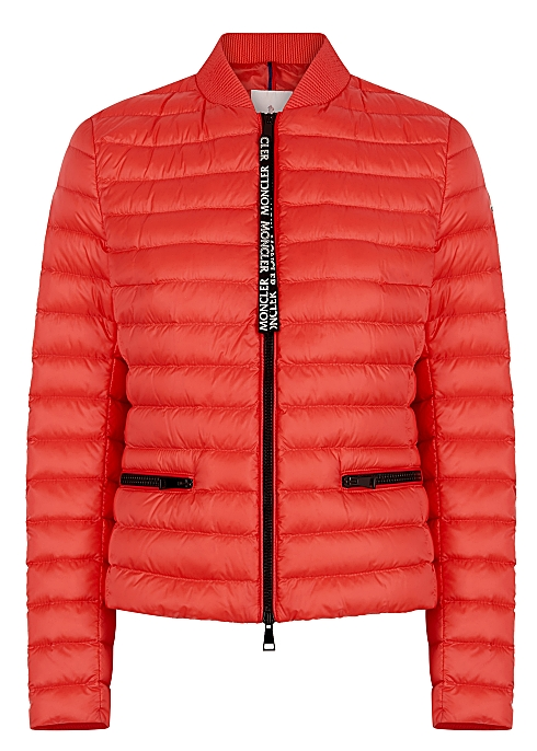 3fbcaa481 Moncler Blenca red quilted shell jacket - Harvey Nichols