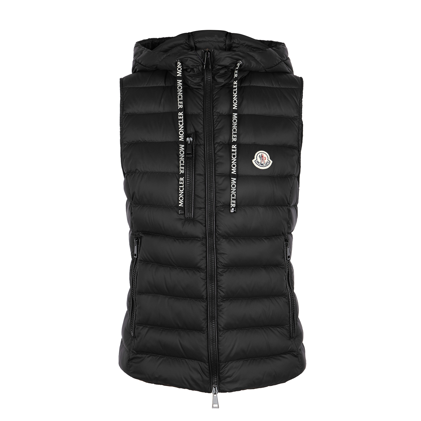 954123702 Sucrette black quilted shell gilet