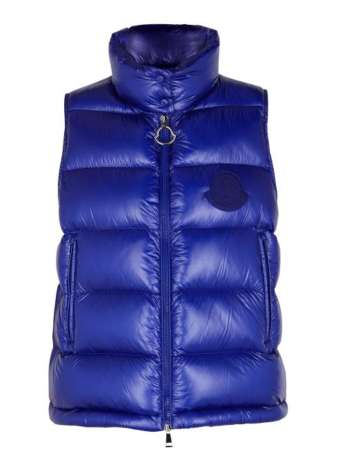 76665887ee238 Moncler Helsinki blue shell gilet - Harvey Nichols