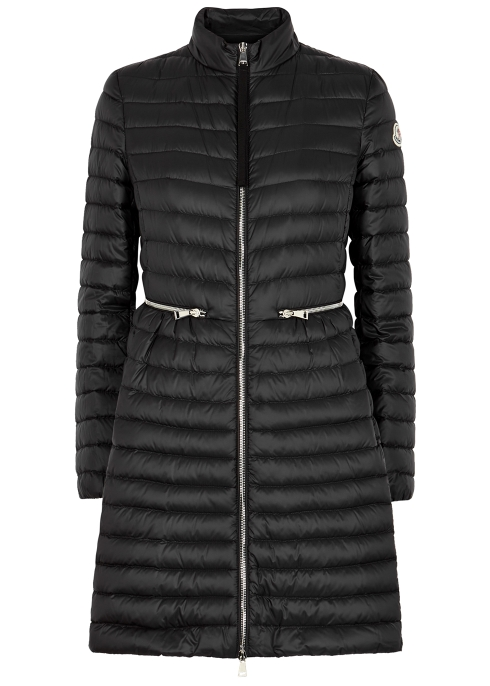 5e96080b2325 Moncler Agatelon black quilted shell coat - Harvey Nichols