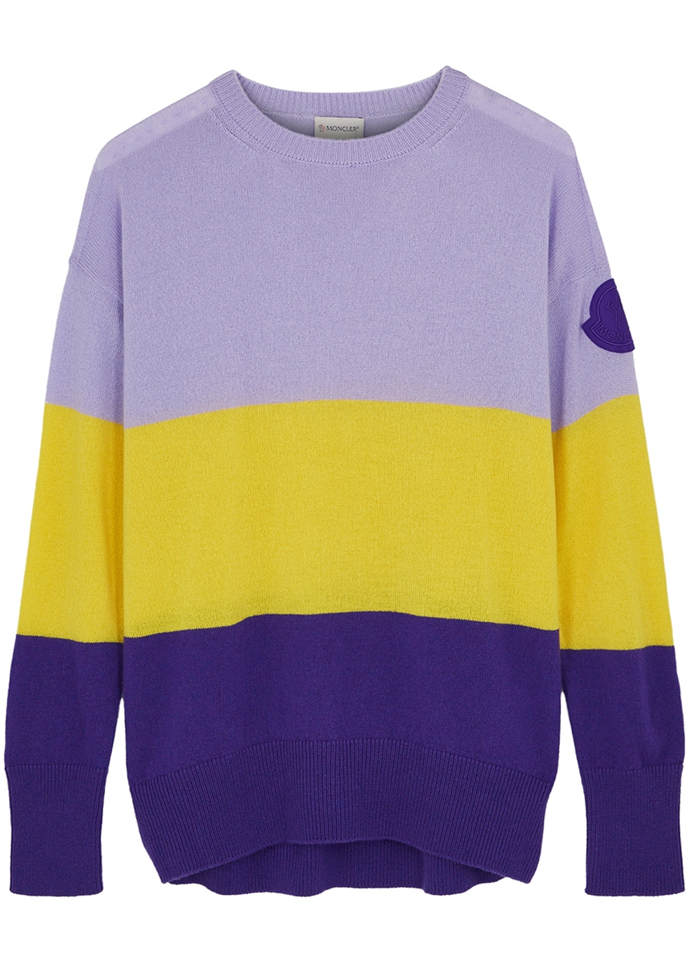 MONCLER | Moncler Colour-Blocked Knitted Jumper | Goxip