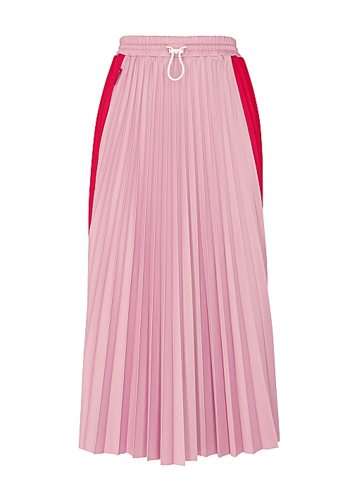 3f3cefee4f Moncler Two-tone pleated midi skirt - Harvey Nichols
