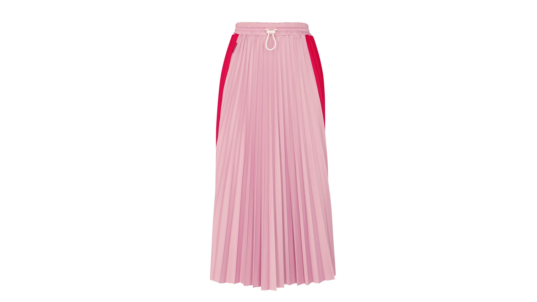 6b769f4ca Two-tone pleated midi skirt