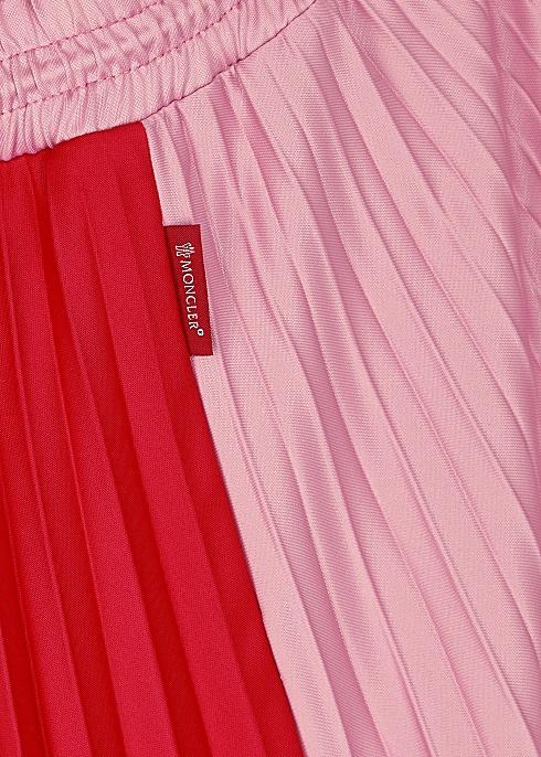 49cfd99d1 Moncler Two-tone pleated midi skirt - Harvey Nichols
