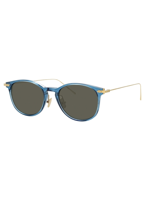 98d7a4c1f303 Linda Farrow Linear Blue D-frame sunglasses - Harvey Nichols