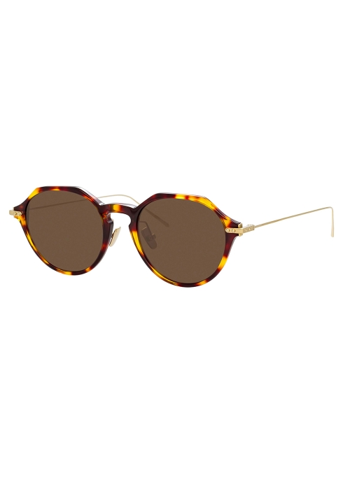 eea17f2a279 Linda Farrow Linear Tortoiseshell angular-frame sunglasses - Harvey ...