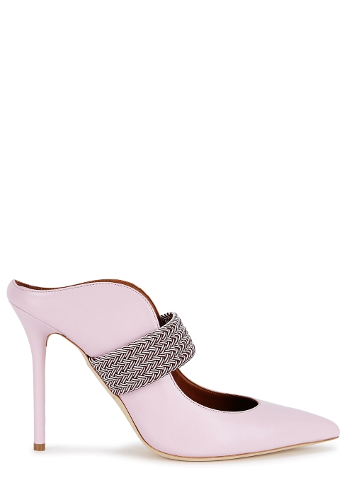 721abeed0d3f Malone Souliers Mara 40 light pink leather mules - Harvey Nichols