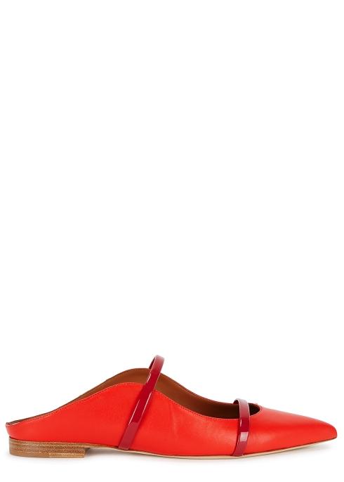 6f30fe53baae Malone Souliers Maureen red leather mules - Harvey Nichols