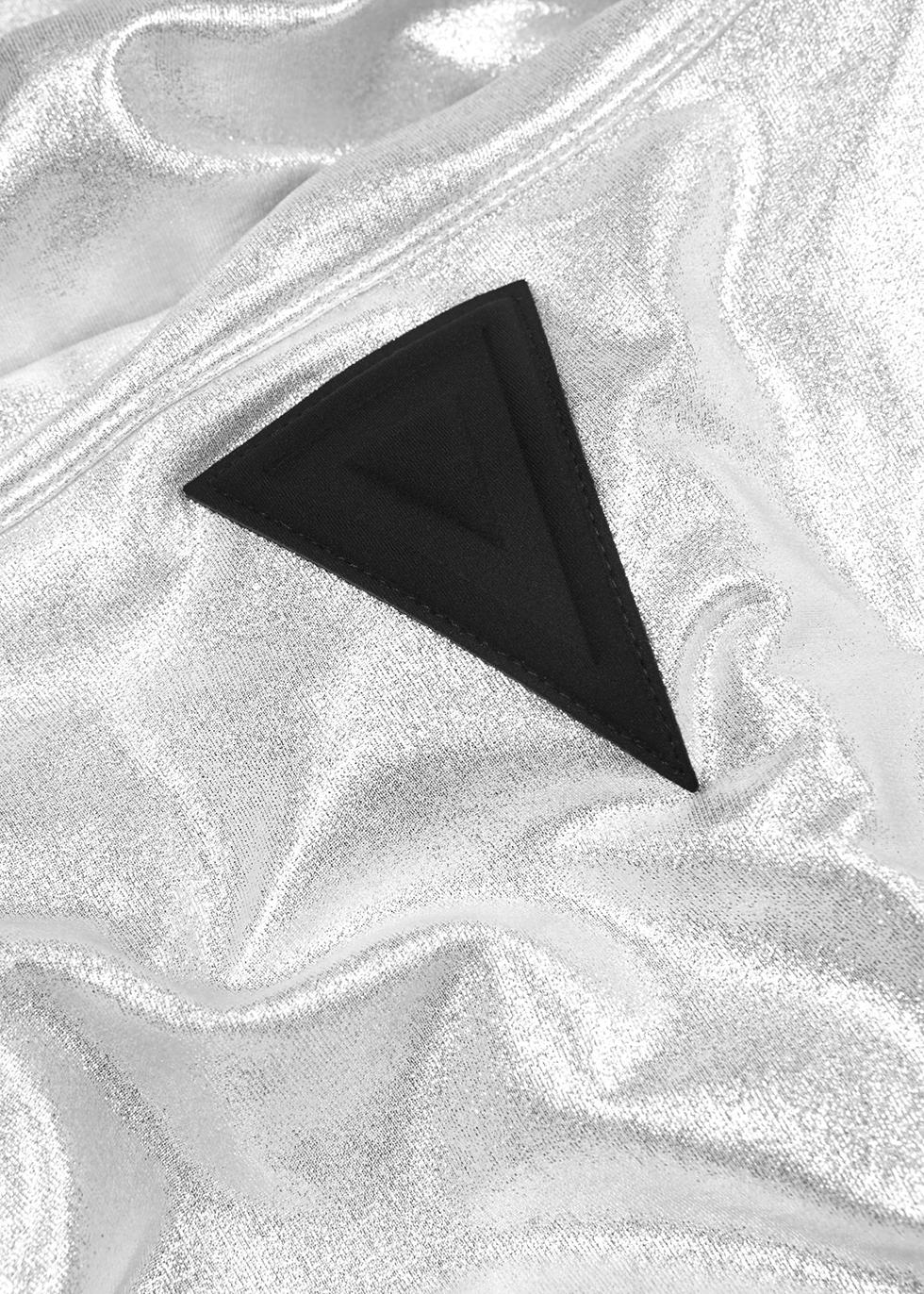 Wahi metallic silver sweatshirt - No Ka 'Oi