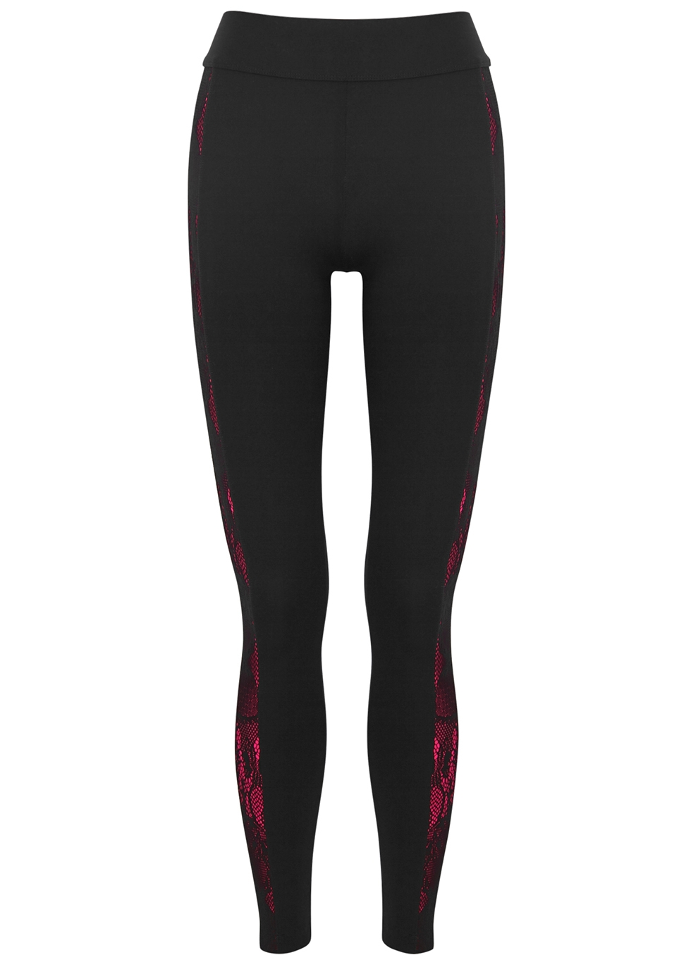 Pouli black panelled leggings - No Ka 'Oi