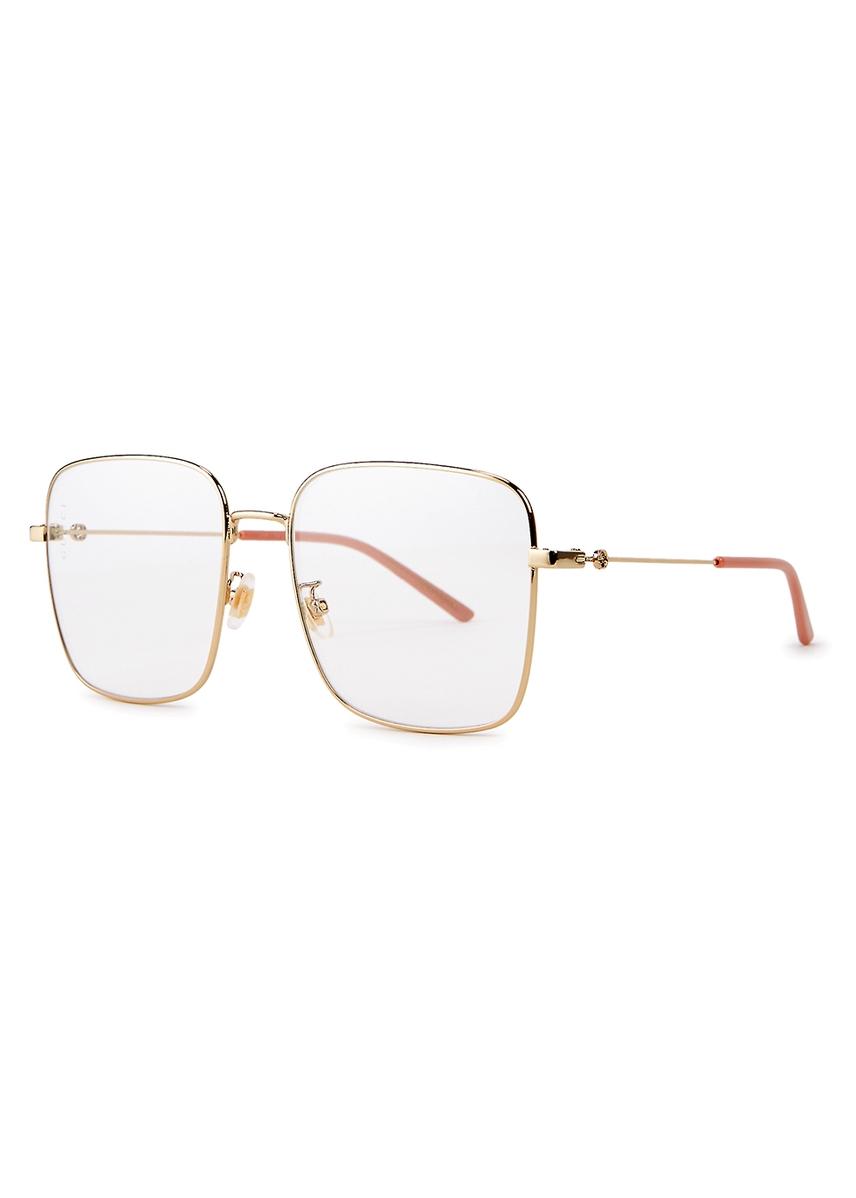 0dc1fe54c9 Transparent square-frame optical glasses