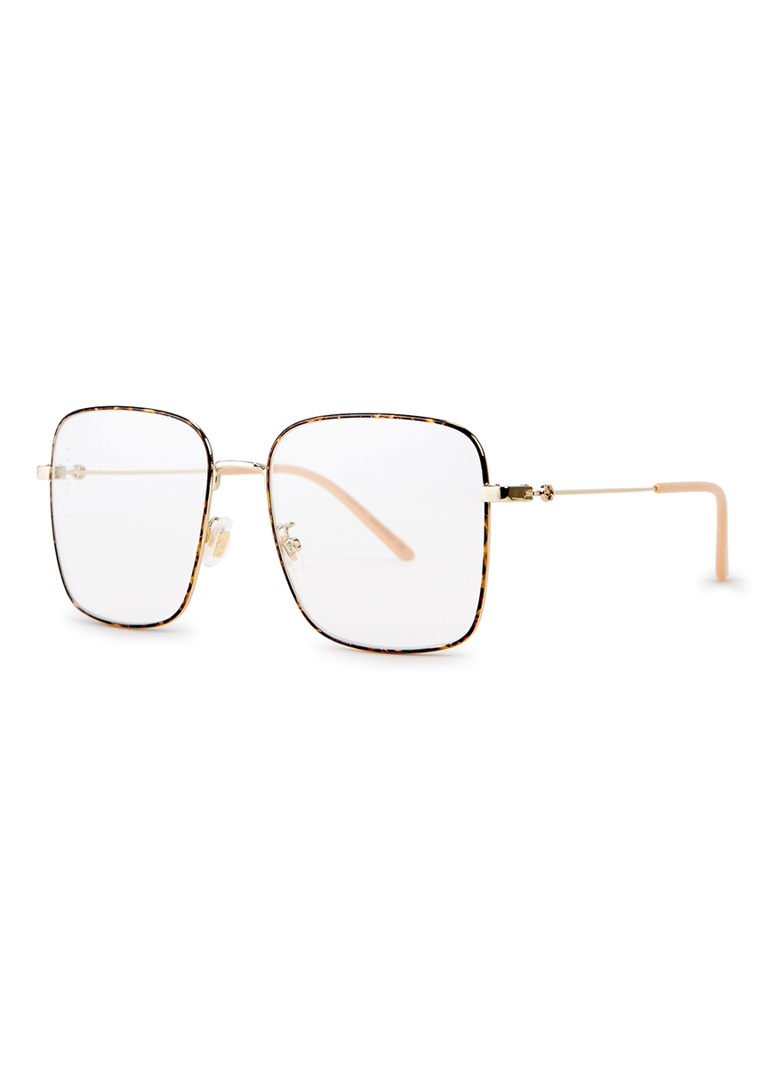 eae009fb9c Transparent square-frame optical glasses. Gucci