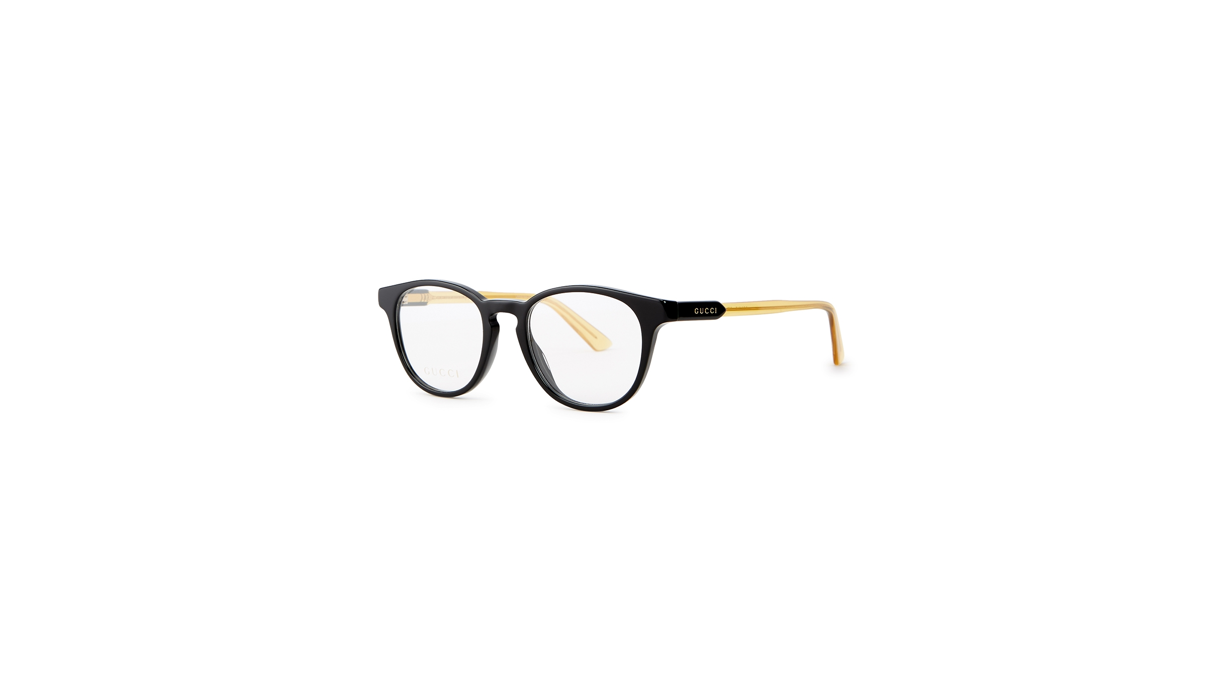 968fdcd7089 Gucci Black square-frame optical glasses - Harvey Nichols