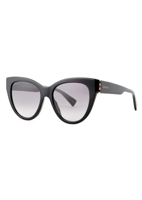 95c832a1a78 Gucci Black cat-eye sunglasses - Harvey Nichols