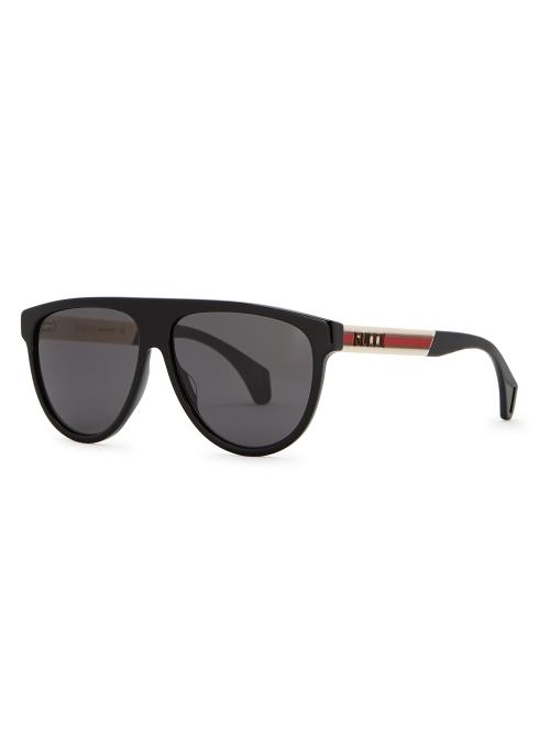 ae28d6f808 Gucci Black D-frame sunglasses - Harvey Nichols