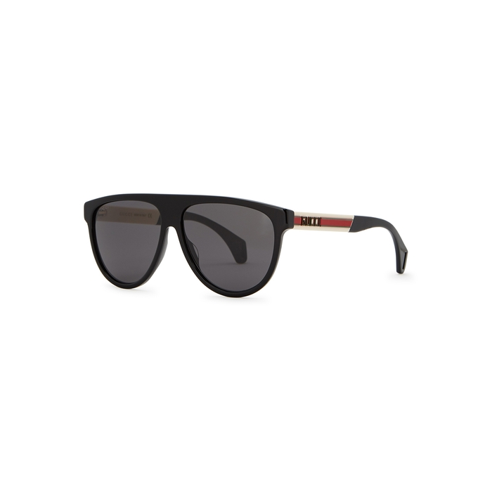 Gucci Black D-frame Sunglasses