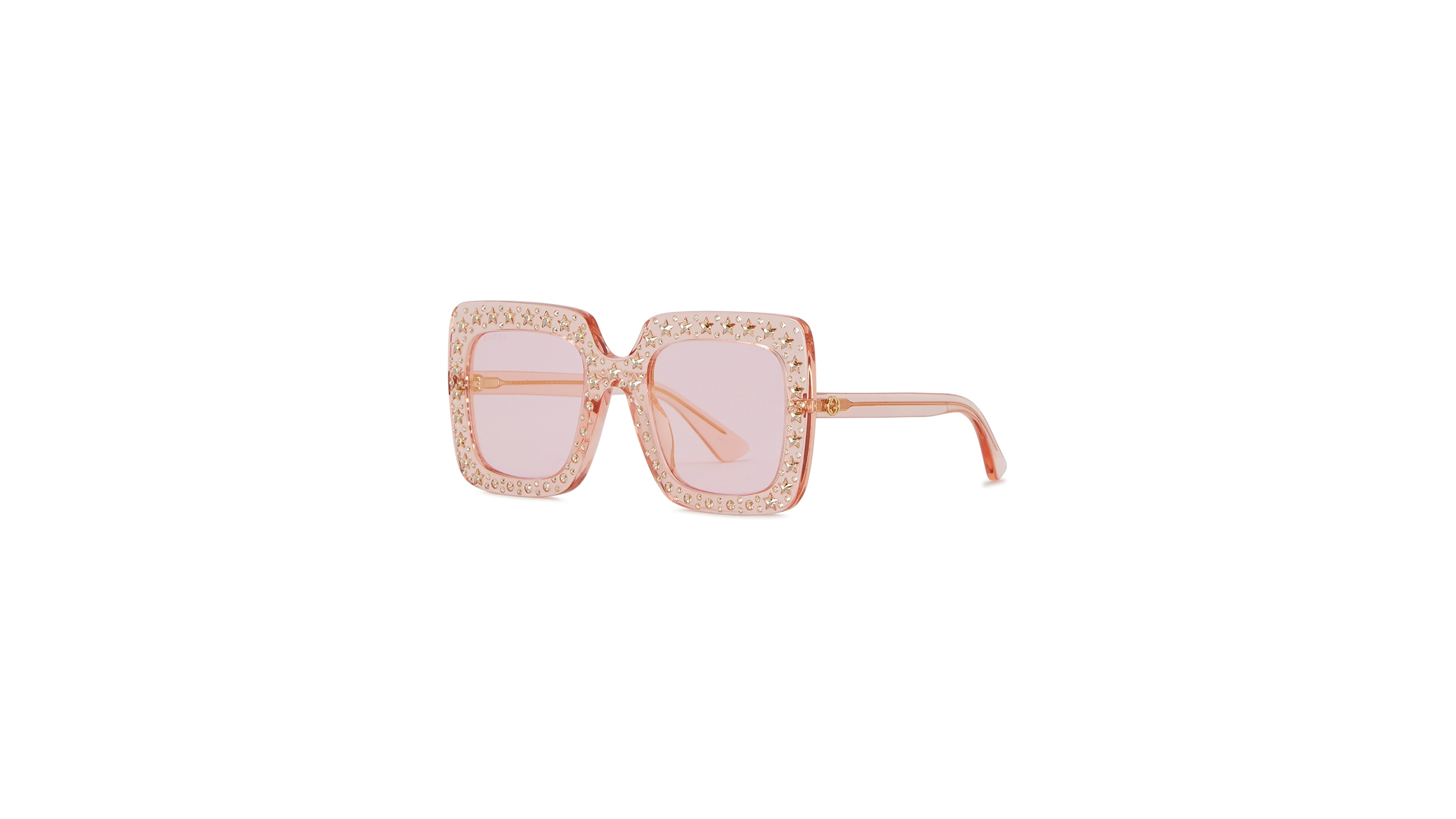 0bd7b55b36 Gucci Pink embellished oversized sunglasses - Harvey Nichols